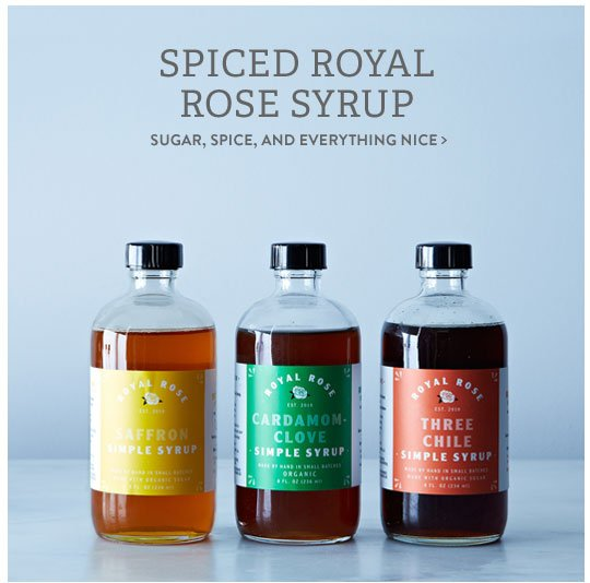 Spiced Royal Rose Syrup