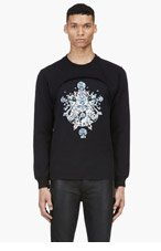 GIVENCHY Black Layered Emebellished Sweater for men