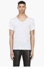ACNE STUDIOS Cream Linen Limit T-Shirt for men