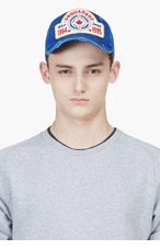 DSQUARED2 Blue Distressed Baseball Cap for men