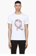 MCQ ALEXANDER MCQUEEN White Thorn Monogram T-Shirt for men