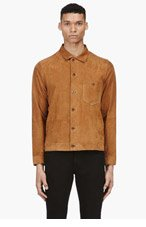 PAUL SMITH JEANS Tan Suede Classic Shirt for men