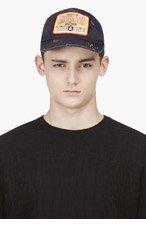 DSQUARED2 Black Distressed Baseball Cap for men