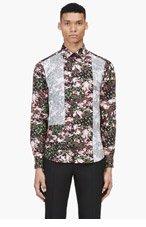 GIVENCHY Black & pink reverse-paneled shirt for men