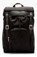 SAINT LAURENT Black Canvas Backpack for men