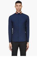 GIVENCHY Navy Star Appliqué shirt for men