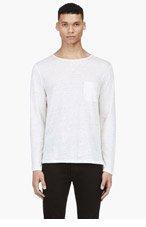 ACNE STUDIOS Cream Linen Pocket Granville T-Shirt for men