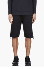 MCQ ALEXANDER MCQUEEN Black Zip Detail Shorts for men