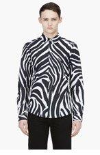 VERSUS BLACK & WHITE ZEBRA PRINT Shirt for men