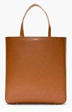 SAINT LAURENT Brown Pebbled Leather Minimalist Tote for men