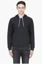 PAUL SMITH Charcoal Double Zip Hooded Sweater for men