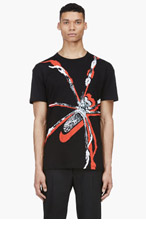 MCQ ALEXANDER MCQUEEN Black Spider T-shirt for men