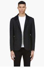 MCQ ALEXANDER MCQUEEN Black hooded blazer for men