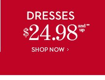 DRESSES $24.98 and Up**.  SHOP NOW