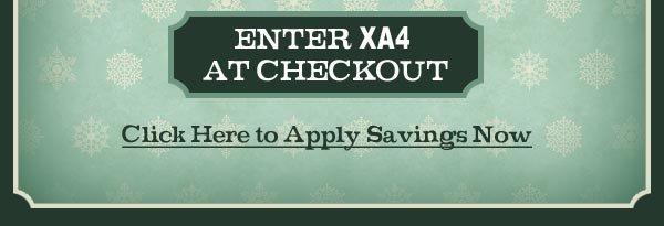 Enter XA4 at checkout