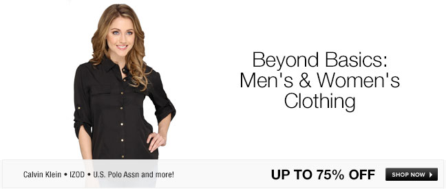 Beyond Basics: Mens and Womens Clothing