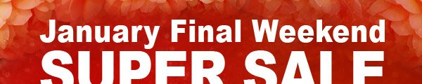 January Final Weekend SUPER SALE + Your Extra Discount Coupon Code