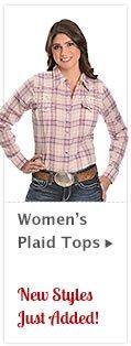 Womens Plaid Tops