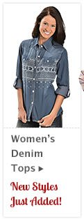 Womens Denim Tops