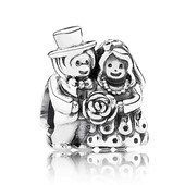 Moments Silver Charm Bride and groom