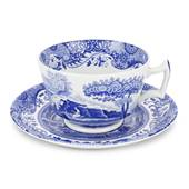 Blue Italian Breakfast Cup Saucer