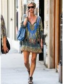 Tolani Chloe Tunic In Grey As seen on Nicky Hilton