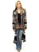 WEST COAST WARDROBE WEEKENDER Cardigan Sweater in Black Multi