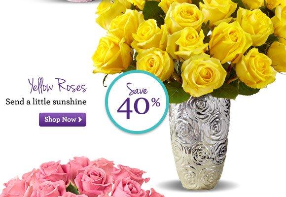 Yellow Roses Send a little sunshine Shop Now
