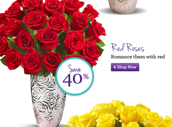 Red Roses Romance them with red Shop Now