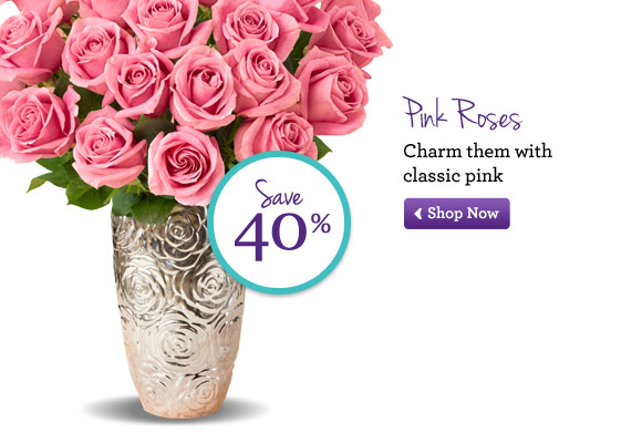 Pink Roses Charm them with classic pink Shop Now
