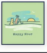 Women's Happy Hour Sunset Graphic Tee