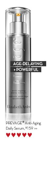 AGE-DELAYING + POWERFUL. PREVAGE® Anti-aging Daily Serum, $159.