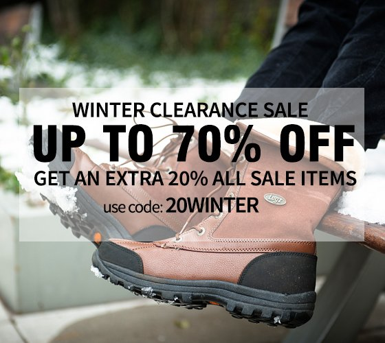 Winter Clearance Up to 70% Off Starts Now