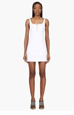 T BY ALEXANDER WANG White Structured Panelled Dress for women
