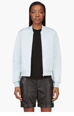 T BY ALEXANDER WANG Pale mint Satin Technical Memory Bomber Jacket for women
