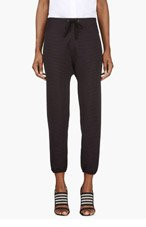 3.1 PHILLIP LIM Black Ribbed Lounge Pants for women