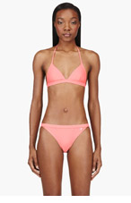 T BY ALEXANDER WANG Coral Pink Triangle Bikini Top for women