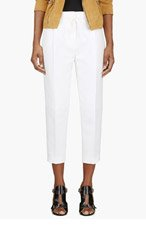 3.1 PHILLIP LIM White Textured Cropped Trousers for women
