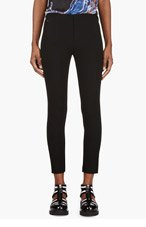 T BY ALEXANDER WANG Black Cropped Tech Suiting Trousers for women