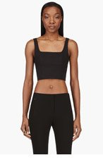 T BY ALEXANDER WANG Black Structured Bustier Top for women