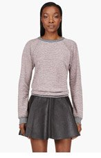 T BY ALEXANDER WANG Pink French Terry Watermelon Rainbow Sweatshirt for women