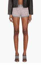 T BY ALEXANDER WANG Pink French Terry Watermelon Rainbow shorts for women