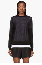 T BY ALEXANDER WANG Black T-shirt Layer Sweater for women