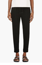 ALEXANDER WANG Black Crepe Trousers for women