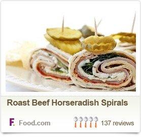Roast Beef Horseradish Spirals