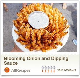 Blooming Onion and Dipping Sauce