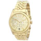 Michael Kors MK5556 Women's Lexington Gold Tone Dial Gold Plated Chrono Watch