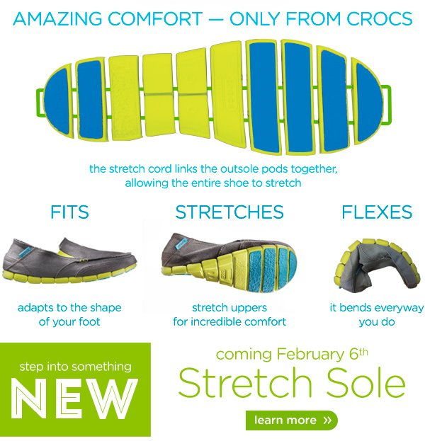 Amazing Comfort - Only From Crocs - learn more