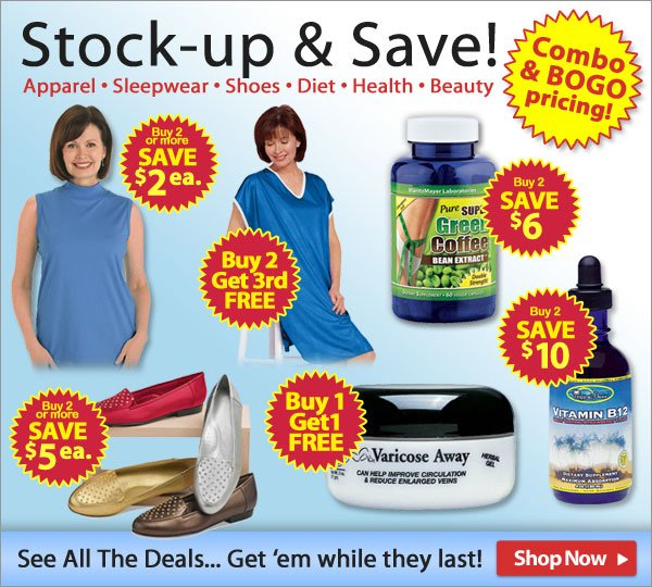 Stock-up & Save! - Combo & BOGO pricing! - Shop Now >>