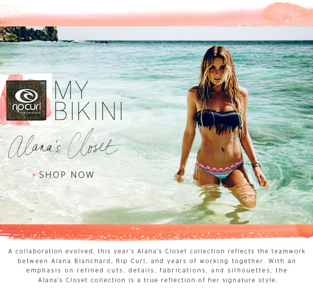 A collaboration evolved, this year's Alana's Closet collection reflects the teamwork between Alana Blanchard, Rip Curl, and years of working together. With an emphasis on refined cuts, details, fabrications, and silhouettes, the Alana's Closet collection is a true reflection of her signature style. - Shop Now